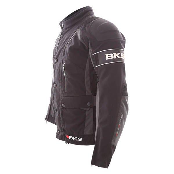 BKS BKW011Venture Black Grey Textile Motorcycle Jacket Side