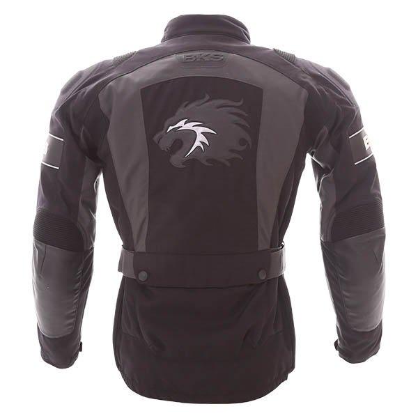 BKS BKW011Venture Black Grey Textile Motorcycle Jacket Back