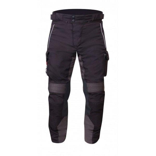 BKS BKW012 Venture Black Textile Motorcycle Trousers Front