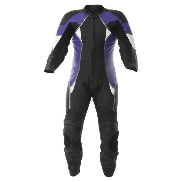 FTL231 Strike 2 1pc Suit Black Blue Leather Motorcycle Suits