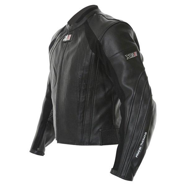 Frank Thomas FTL301 XTI 2 Black Leather Motorcycle Jacket Side