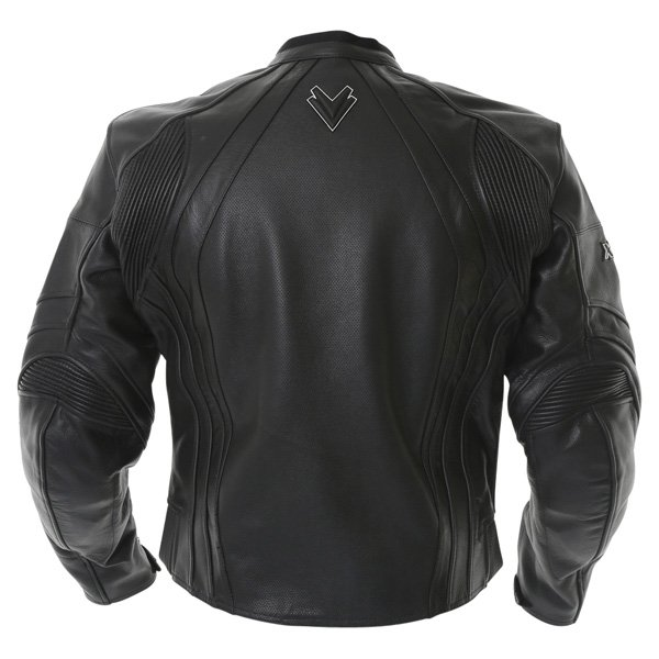 Frank Thomas FTL301 XTI 2 Black Leather Motorcycle Jacket Back