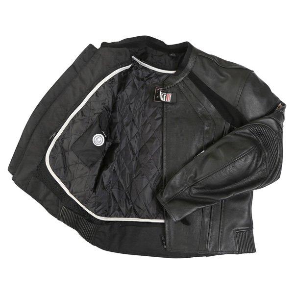 Frank Thomas FTL301 XTI 2 Black Leather Motorcycle Jacket Inside