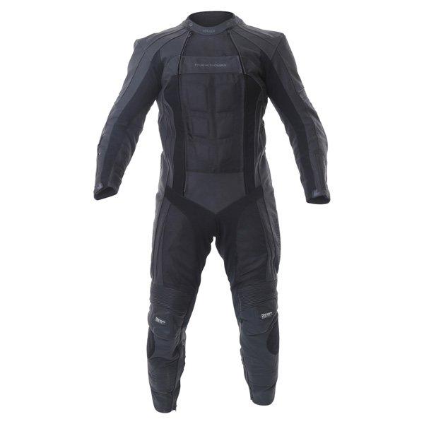 FTL321 Kinetik Sport Mesh Suit Black Leather Motorcycle Suits
