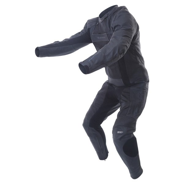 Frank Thomas FTL321 Kinetik Sport Mesh Mens Black Leather Motorcycle Suit Racing crouch