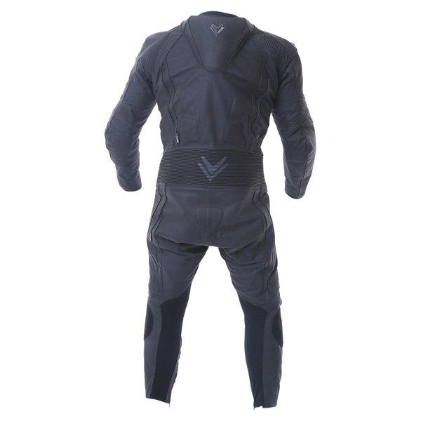 Frank Thomas FTL321 Kinetik Sport Mesh Mens Black Leather Motorcycle Suit Back