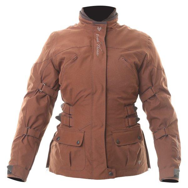 Frank Thomas FTW304 Zarina Ladies Brown Waterproof Textile Motorcycle Jacket Front