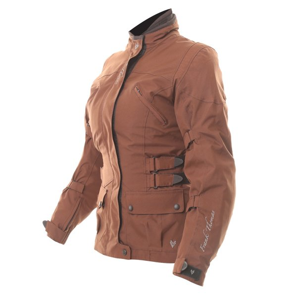 Frank Thomas FTW304 Zarina Ladies Brown Waterproof Textile Motorcycle Jacket Side