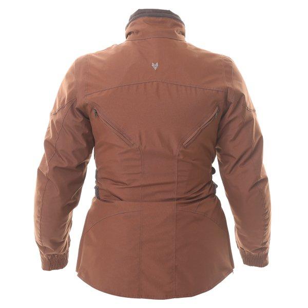 Frank Thomas FTW304 Zarina Ladies Brown Waterproof Textile Motorcycle Jacket Back
