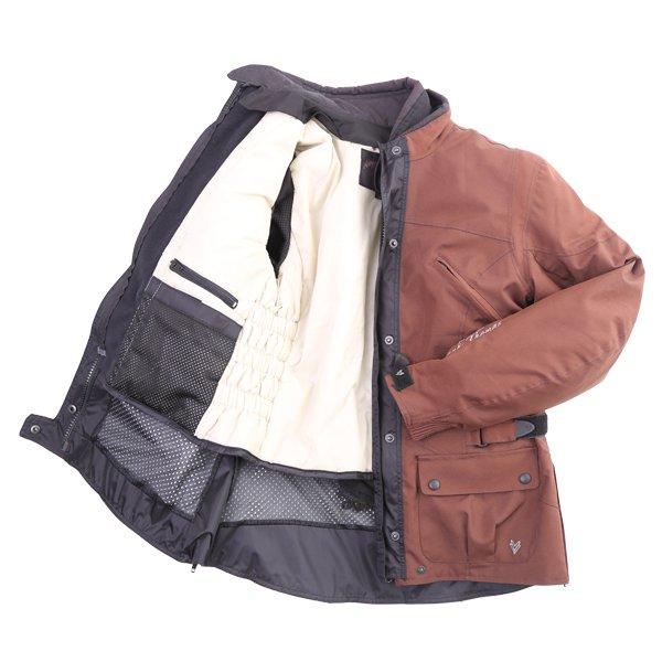 Frank Thomas FTW304 Zarina Ladies Brown Waterproof Textile Motorcycle Jacket Inside