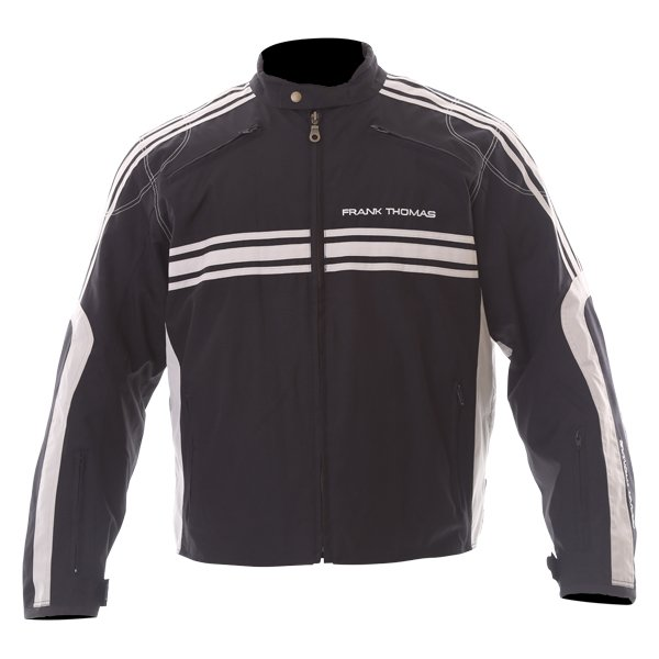 Frank Thomas FTW316 Luffield Black Cream Textile Motorcycle Jacket Front