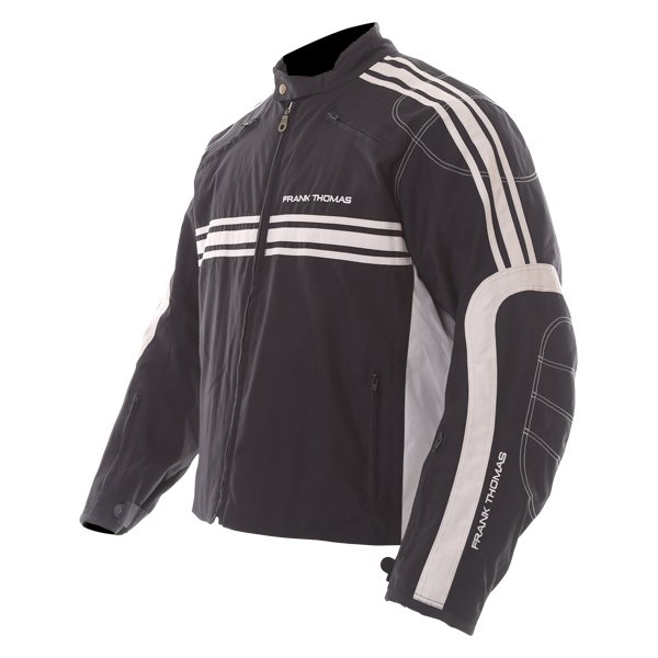 Frank Thomas FTW316 Luffield Black Cream Textile Motorcycle Jacket Side