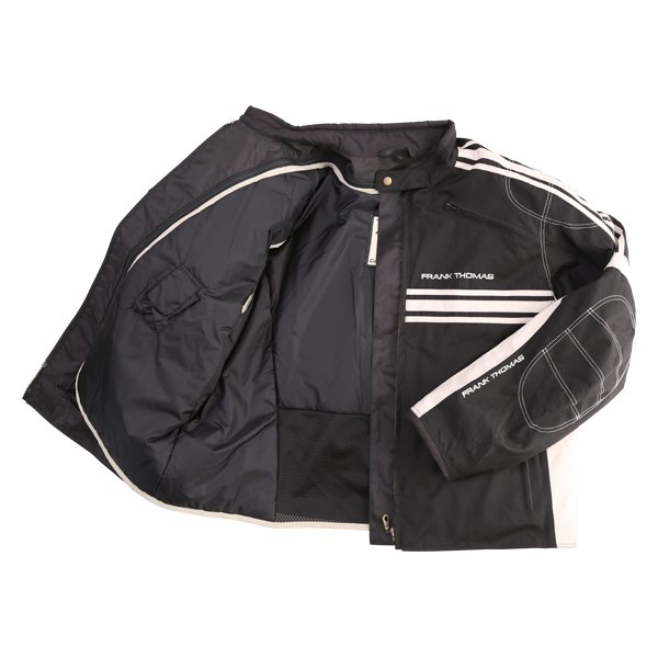 Frank Thomas FTW316 Luffield Black Cream Textile Motorcycle Jacket Inside