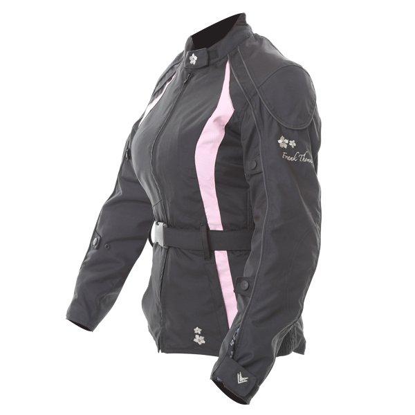 Frank Thomas FTW332 Evie Ladies Black Pink Textile Motorcycle Jacket Side