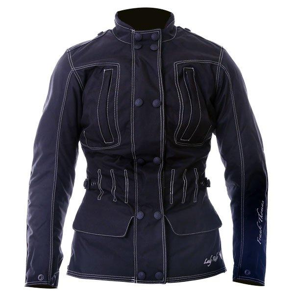 Frank Thomas FTW336 Ariana Ladies Black Motorcycle Jacket Front