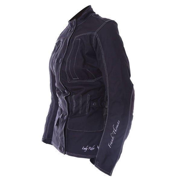 Frank Thomas FTW336 Ariana Ladies Black Motorcycle Jacket Side