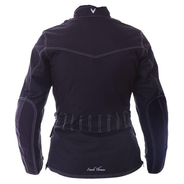 Frank Thomas FTW336 Ariana Ladies Black Motorcycle Jacket Back