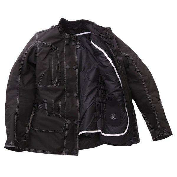 Frank Thomas FTW336 Ariana Ladies Black Motorcycle Jacket Inside