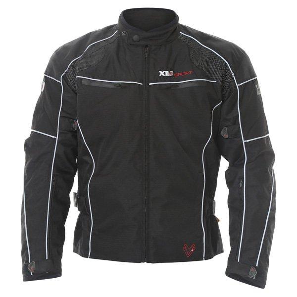 Frank Thomas FTW340 Xti 2 Sport Mens Black Textile Motorcycle Jacket Front