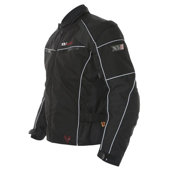 Frank Thomas FTW340 Xti 2 Sport Mens Black Textile Motorcycle Jacket Side