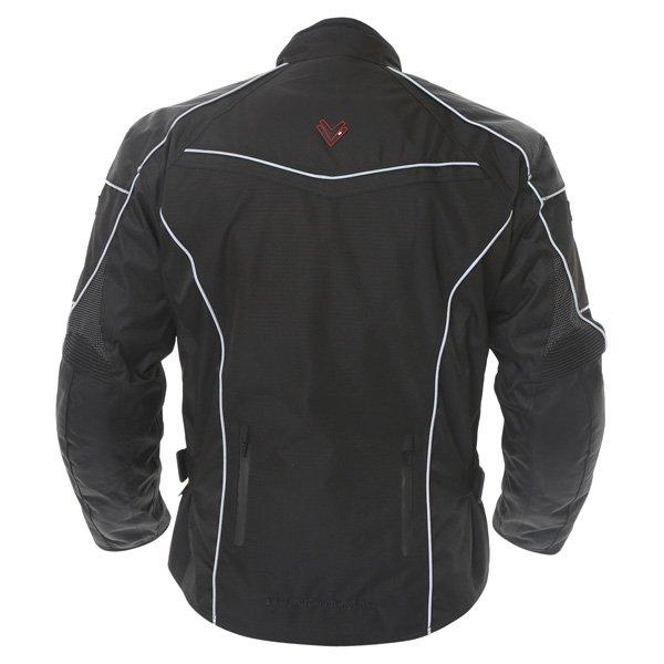 Frank Thomas FTW340 Xti 2 Sport Mens Black Textile Motorcycle Jacket Back