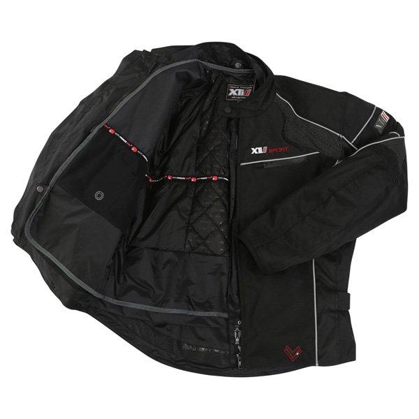 Frank Thomas FTW340 Xti 2 Sport Mens Black Textile Motorcycle Jacket Inside