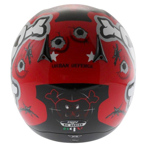 AGV K Series Urban Defender Full Face Motorcycle Helmet Back