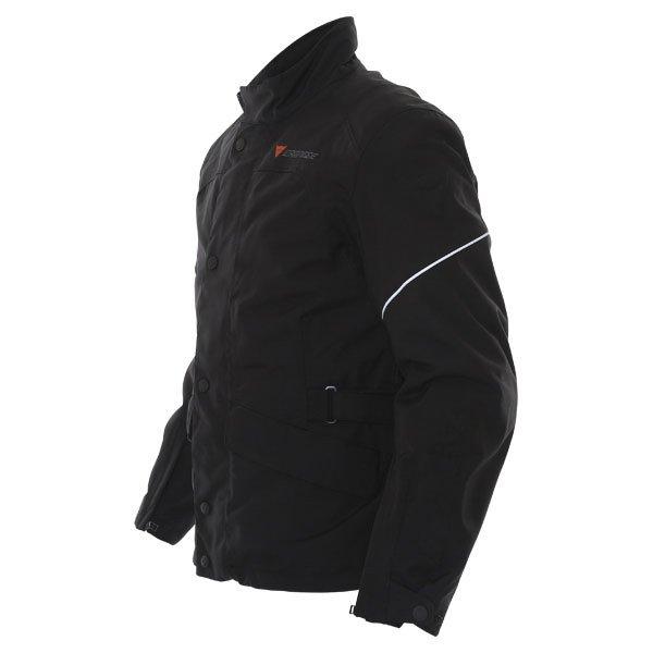 Dainese Aaron D-Dry Mens Black Silver Waterproof Textile Motorcycle Jacket Side