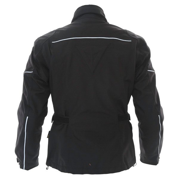 Dainese Aaron D-Dry Mens Black Silver Waterproof Textile Motorcycle Jacket Back