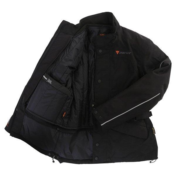 Dainese Aaron D-Dry Mens Black Silver Waterproof Textile Motorcycle Jacket Inside