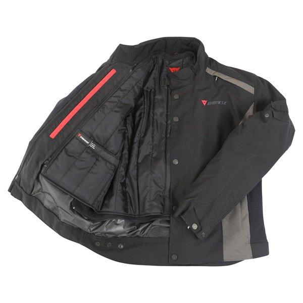 Dainese Xantum D-Dry Mens Black Waterproof Textile Motorcycle Jacket Inside