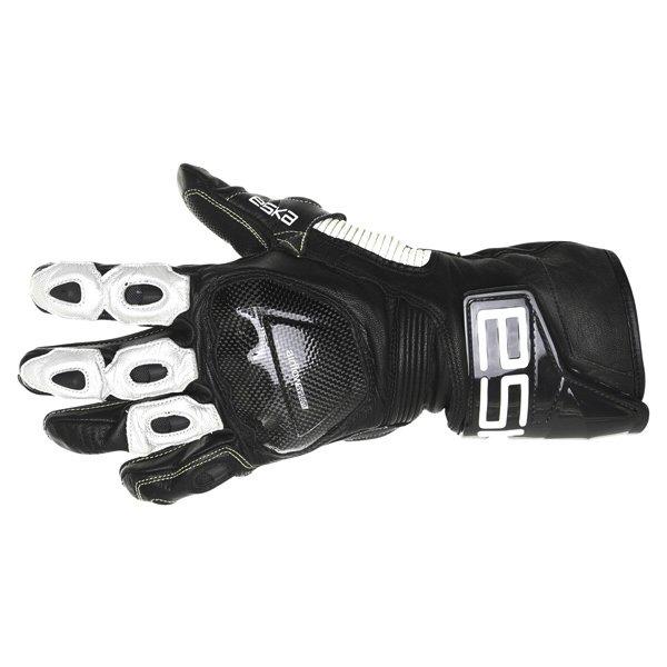 Eska GP Pro 1251 Black White Motorcycle Gloves Back
