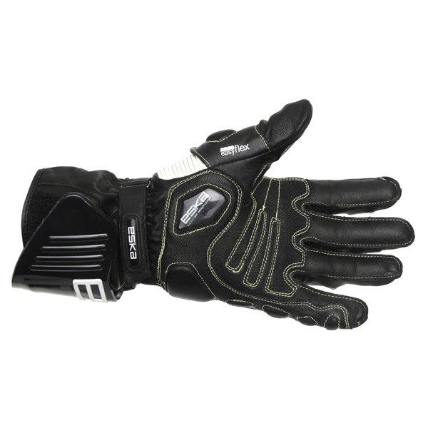 Eska GP Pro 1251 Black White Motorcycle Gloves Palm
