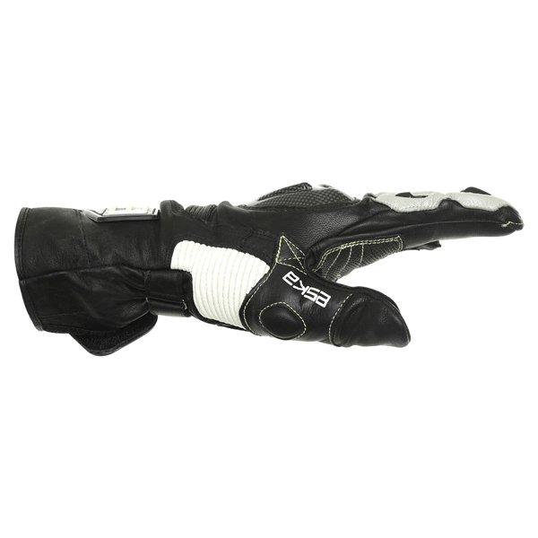 Eska GP Pro 1251 Black White Motorcycle Gloves Thumb side