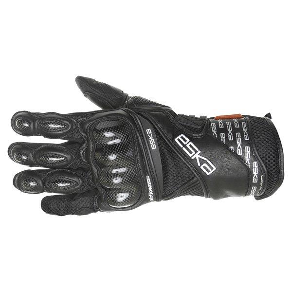Eska Pro Carbone 1255 Black Motorcycle Gloves Back