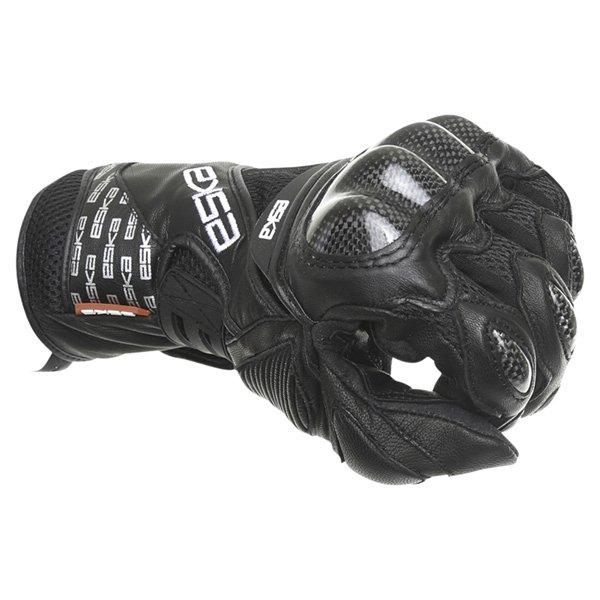 Eska Pro Carbone 1255 Black Motorcycle Gloves Knuckle