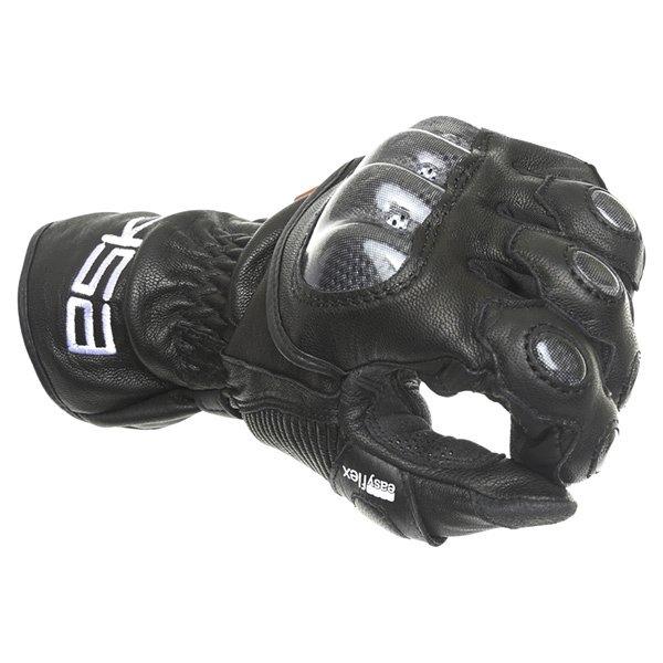 Eska Spider 1256 Black Motorcycle Gloves Knuckle