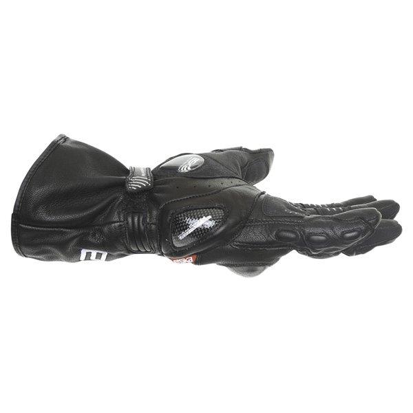 Eska Spider 1256 Black Motorcycle Gloves Little finger side