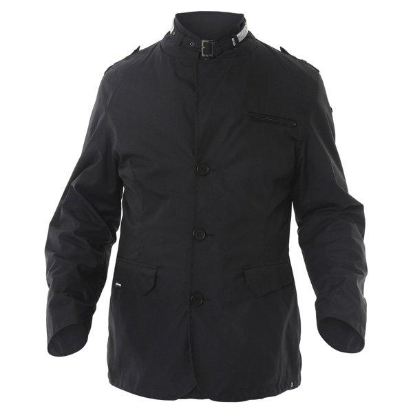 696 CTY002 Luca Mens Black Waterproof Textile Motorcycle Jacket Front