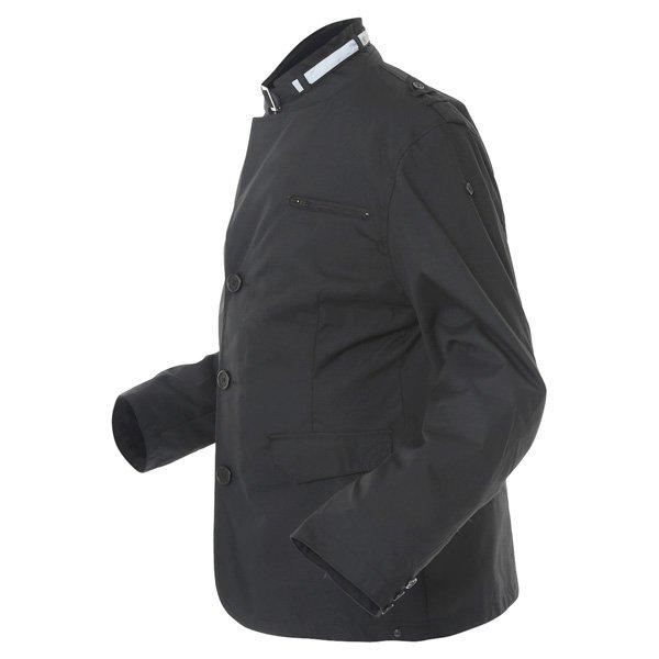 696 CTY002 Luca Mens Black Waterproof Textile Motorcycle Jacket Side