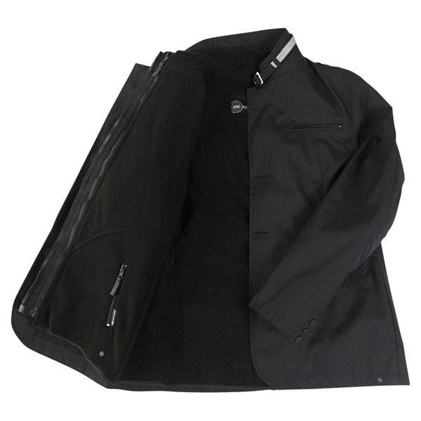 696 CTY002 Luca Mens Black Waterproof Textile Motorcycle Jacket Inside