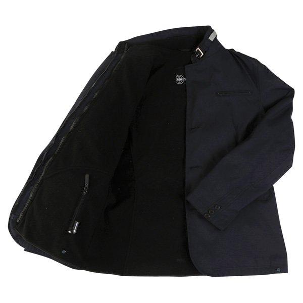 696 CTY002 Luca Mens Navy Waterproof Textile Motorcycle Jacket Inside