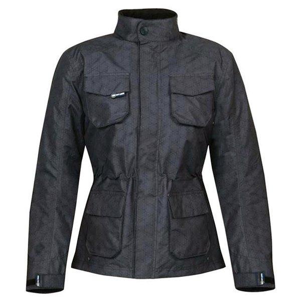 696 CTY007 Paris Ladies Grey Textile Motorcycle Jacket Front