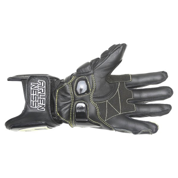 Arlen Ness G-9149-AN Black Motorcycle Gloves Palm