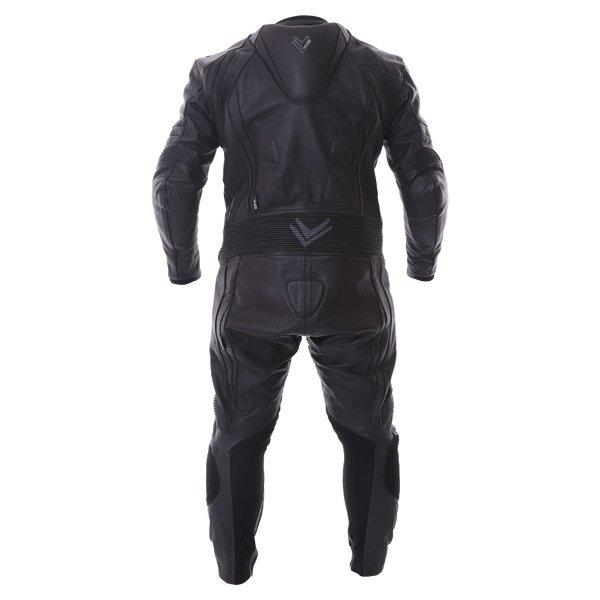 Frank Thomas FTL327 Kinetik Mens Black Leather Motorcycle Race Suit Back