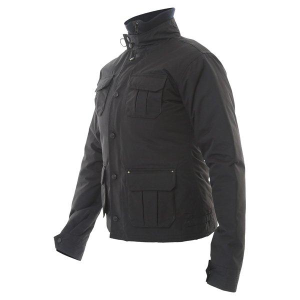 Armadillo Military Ladies Black Textile Motorcycle Jacket Side