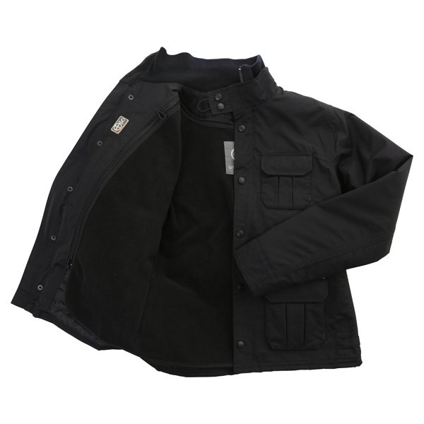Armadillo Military Ladies Black Textile Motorcycle Jacket Inside