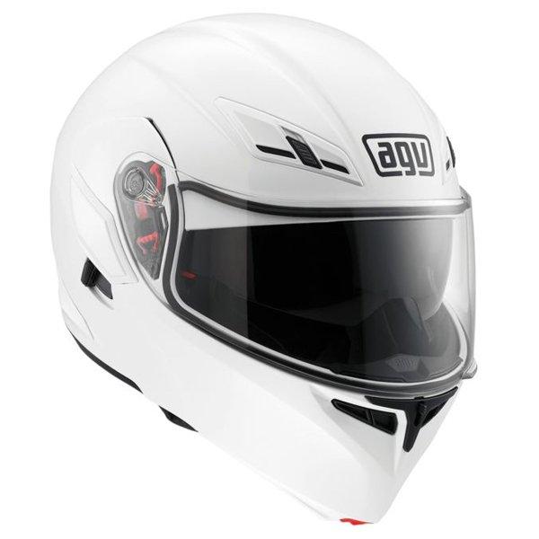 AGV Numo White Helmet Front Left