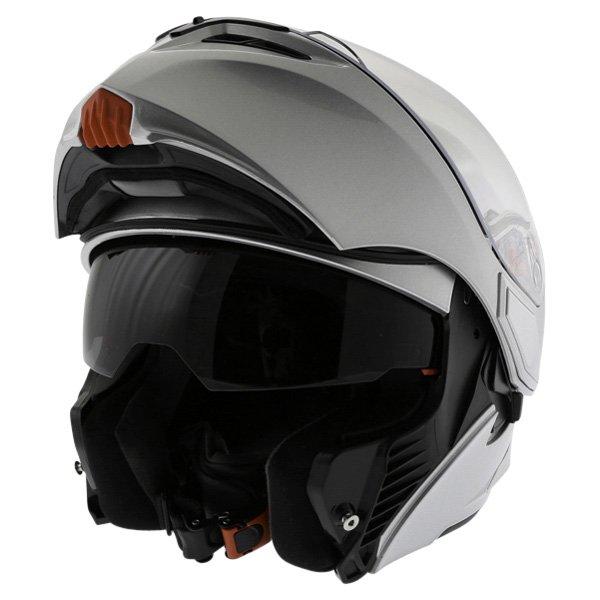 AGV Numo Silver Helmet Flip Open
