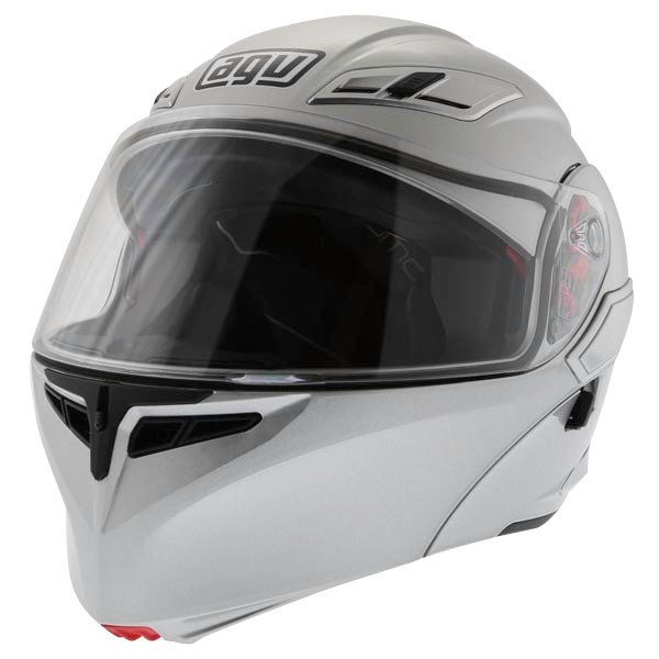 AGV Numo Silver Helmet Front Left
